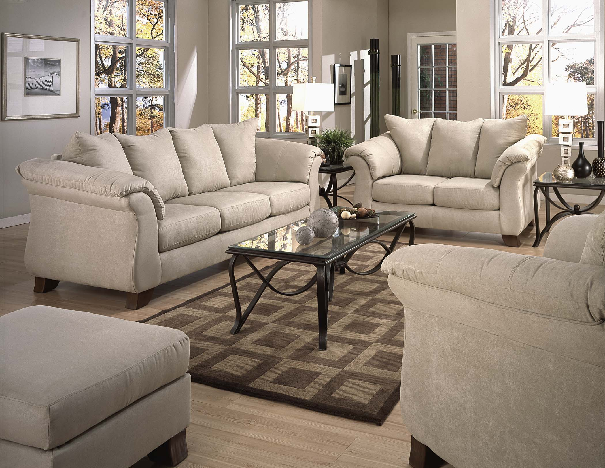 Fabric Microfiber Sofa Amp Loveseat