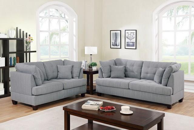 Fabric Microfiber Sofa Loveseat