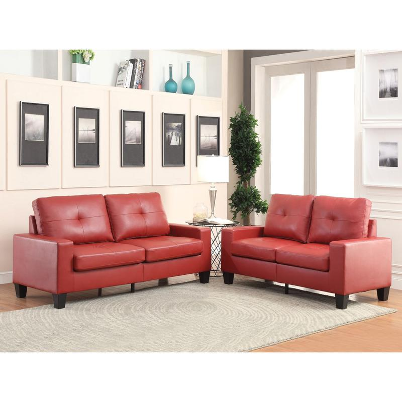 Best Priced Furniture: Leather Sofa Loveseat