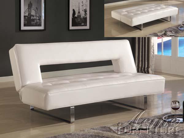 Black Vinyl Futon Sofa Bed