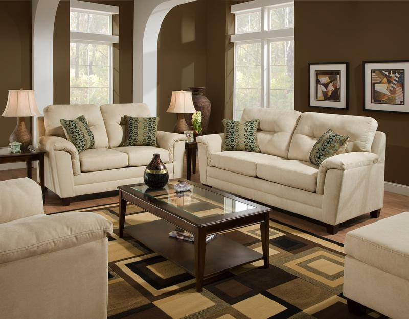 Living Room Sets American Furniture fabric / microfiber sofa & loveseat