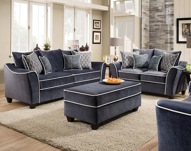 Fabric Microfiber Sofa Loveseat