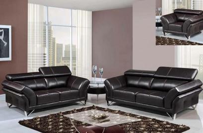 Contemporary Sofa & Loveseat