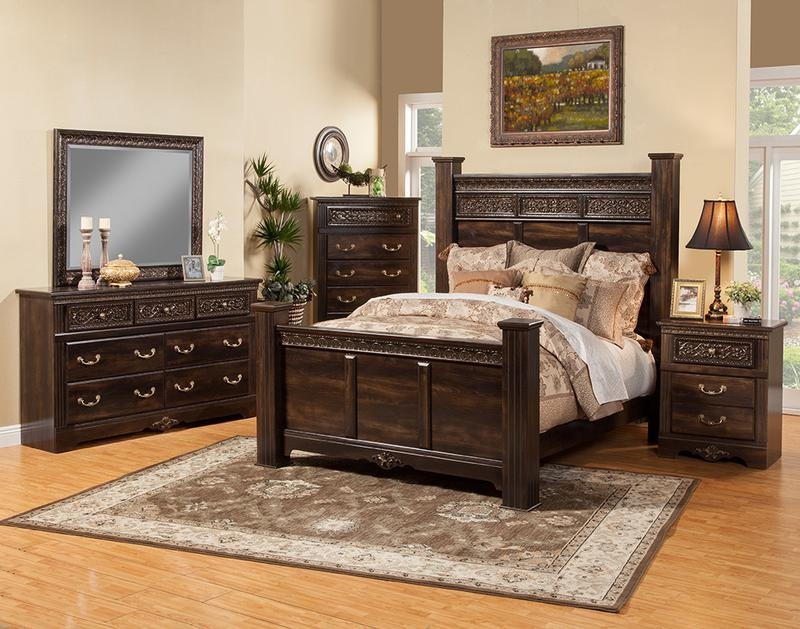 wood finish bedroom